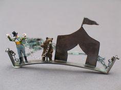 Circus Necklace- silver, copper, plastic