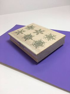 Snowflakes Craft Stamp Winter Rubber Stamp Snowflake Patterns