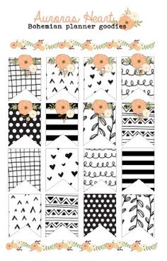 Doodle Pageflags Planner Stickers boho by AurorasHeart on Etsy…