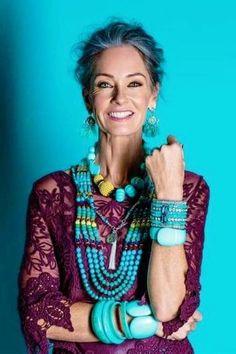 Michelle Atkin - Vivien's Models Mature Fashion, Over 50 Womens Fashion, Fashion Over 50, Look Fashion, Fashion Outfits, Fashion Tips, Grunge Fashion, Ladies Fashion, Modest Fashion