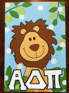 Alpha Delta Pi sorority canvas with Alphie and ADPi letters $12.49
