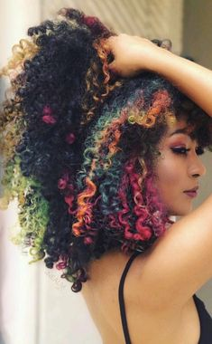 Caring For Natural Hair for all things natural hair care! Dyed Curly Hair, Dyed Natural Hair, Colored Curly Hair, Dye My Hair, Natural Hair Tips, Curly Hair Styles, Natural Hair Styles, Edgy Natural Hair, Afro Hairstyles