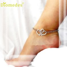 Anklets Diomedes Gussy Life New Jewelry Double Heart Chain Beach Sexy Sandal Anklet Ankle Bracelet Wonderful Jan10 //Price: $US $0.61 & FREE Shipping //     #hashtag2