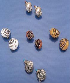 2) orecchini conchiglie - Wallis Simpson