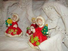 HOLIDAY SaLE Christmas Vintage Ceramic Girl by NopalitoVintageMore, $15.00