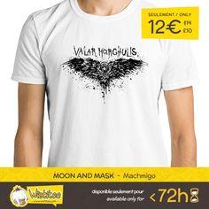 "(EN) ""Valar Morghulis"" designed by the astounding Dr.Monekers is our NEW T-SHIRT. Available 72 hours, order yours today for only 12€/$14/£10 on WWW.WISTITEE.COM     (FR) ""Valar Morghulis"" créé par l'incroyable Dr.Monekers est notre NOUVEAU T-SHIRT. Disponible 72 heures, réservez-le dès maintenant pour seulement 12€ sur WWW.WISTITEE.COM     #LeTroneDeFer #GameOfThrones #ValarMorghulis #AryaStark #JonSnow #Stark #got #SansVisage #FacelessMen #GeorgeRRMartin #DrMonekers #wistitee #design…"
