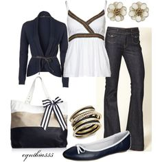 """Nifty Navy"" by cynthia335 on Polyvore"