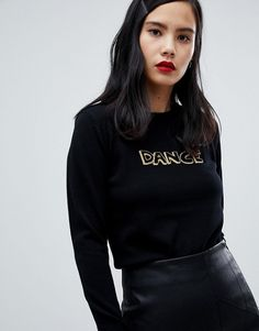 Buy Fred Perry x Bella Freud Dance Knit Black Jumper at ASOS. With free delivery and return options (Ts&Cs apply), online shopping has never been so easy. Get the latest trends with ASOS now. Bella Freud, Black Jumper, Black Sweaters, Pique Polo Shirt, Fred Perry, Preppy Style, Long Sleeve Tops, Fashion Online, Fitness Models