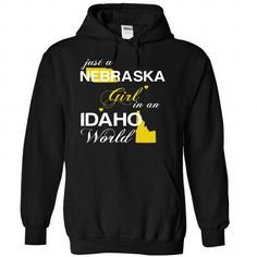 (NEJustVang002) Just A Nebraska Girl In A Idaho World - #gift ideas #gift box. OBTAIN LOWEST PRICE => https://www.sunfrog.com/Valentines/-28NEJustVang002-29-Just-A-Nebraska-Girl-In-A-Idaho-World-Black-Hoodie.html?68278