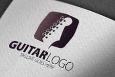 Guitar Logo by samedia on Creative Market