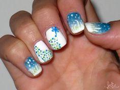 Nails Art noche mágica / Tonos azules