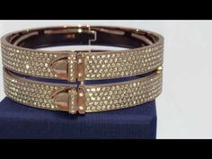 Swarovski Bangle Distinct Double Rose Gold Medium ref 5160573 crystals - YouTube