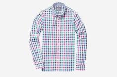 Washed Poplin Tall - Multi Barlow Tattersall | Cotton Casual Shirt - Bonobos Men's Clothes - Pants, Shirts and Suits