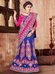 Indian Wardrobe is your ultimate destination for Fashionable ethnic women's clothes like Sarees, Salwar Kameez, Lehenga Sarees and Choli, Kurtis, Tunics and Salwar Suits. Lehenga Style Saree, Bridal Lehenga Choli, Indian Lehenga, Saree Wedding, Anarkali, Sari, Pakistani, Sarees Online India, Lehenga Choli Online