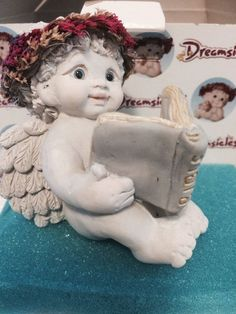 "New Dreamsicles ""The Good Book"" Cherub Reading Bible Figurine"