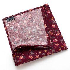 Bordeaux Floral Pocket Square