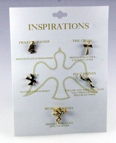 6030089 Christian Lapel Pin Set Cross Guardian Angel Praying Hands Pro Life Tie Tack Brooches & Pins. Save 50 Off!. $9.99. 5 Piece Set. Faith Statement. Gold Plated. Made in USA. Beautiful Gift Box Included