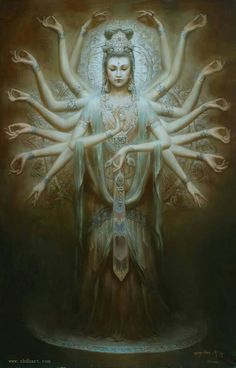 to Chinese Buddhist festival of Kuan Yin/Kannon/Tara, Supreme Goddess of Nature and Perfect Buddha of many emanations; celebrates Her enlightenment and Her bodhisattva vow to help all sentient beings. Buddha, Dunhuang, Culture Art, Chinese Culture, Religion, Guanyin, Foto Art, Buddhist Art, Sanskrit