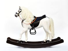 Horses, Animals, Wood Rocking Horse, Big Horses, Horse Harness, Solid Wood, White People, Animaux, Animales