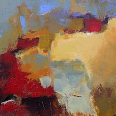 "Daily Painters Abstract Gallery: Modern Expressionistic Abstract Paintings ""Precipice"", ""Mountain"", ""Longview"" by Elizabeth Chapman"