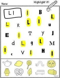 Make learning letters fun and engaging with this set of worksheets. Students use highlighters to identify letters of the alphabet and beginning sounds.