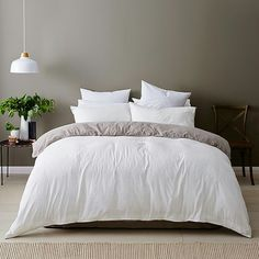 Spruce up your bedspread with this Linen Cotton Quilt Cover Set! Set consists of quilt cover and two matching pillowcases. Dream Bedroom, Home Bedroom, Bedroom Decor, Bedrooms, Bedroom Ideas, Bed Linen Australia, Bed Linen Design, Quilt Cover Sets, Cool Beds