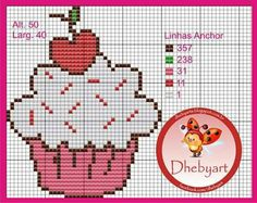 Image uploaded by Lurielly. Find images and videos on We Heart It - the app to get lost in what you love. Small Cross Stitch, Cross Stitch Kitchen, Cute Cross Stitch, Cross Stitch Designs, Cross Stitch Patterns, Cross Stitching, Cross Stitch Embroidery, Cupcake Cross Stitch, Stitch Cartoon