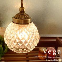 ペンダントライト 1灯 ガラス アンティーク カントリー LED対応 ペンダント照明 ペンダントライト 照明 玄関 階段 廊下 トイレ ダイニング用 寝室 書斎 ダクトレール(要プラグ) キッチン キッチンカウンター お洒落 可愛い[Vega:ベガ][GLASGOW:グラスゴー](2-5