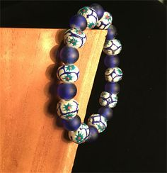Anthea blue and white bracelet
