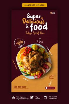 Food Menu Design, Food Poster Design, Creative Poster Design, Creative Flyers, Brochure Food, Graphic Design Flyer, Food Banner, Plakat Design, Flyer Design Inspiration
