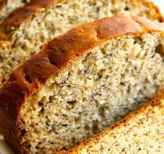 Banana Bread with honey and applesauce instead of sugar & oil. Delicious & Healthy – 77Foods