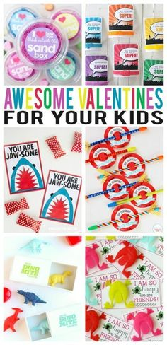 Awesome Valentines For Kids. So many fun ideas included in this post! Are you looking for original ideas for a gift for Valentine's day and you can't make a worthy choice? Try this list of best gift ideas which was created by a bunch of geeks who partake in way too much online window shopping.  Valentine's Gift Ideas unique | Valentine's Gift Ideas for husband | Valentine's Gift Ideas creative | Valentine's Gift Ideas for wife