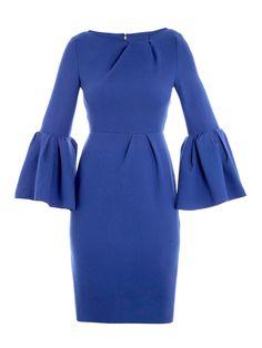 Roksanda Ilincic bell sleeve dress