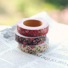 Fabric Tape : Antique Flower - Red – Dailylike Australia