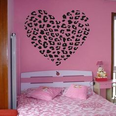 "23.6"" X 25.6"" Cheetah Spot Print Heart Removable Wall Art Decal Sticker Decor Mural DIY Vinyl Décor Room Home by OKBUY WALL STICKERS, http://www.amazon.com/dp/B00CSITPJ4/ref=cm_sw_r_pi_dp_iMZYrb17AJ8M2"