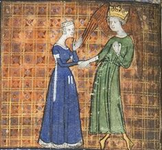 14th century (ca.1365) France  Chicago, University of Chicago Library  MS 1380 - Roman de la Rose  fol. 5v    http://roseandchess.lib.uchicago.edu/rose.html