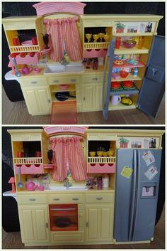 barbie mattel cuisine quipe et ses accessoires pour la maison de barbie be ebay