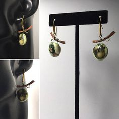 Asian style earrings Unique design Moss green Fall birthday Autumn colors Nature lover Traveler gift Earth Day World Ocean Day Environment Rustic Jewelry, Handcrafted Jewelry, Unique Jewelry, Unique Gifts For Her, Gifts For Women, Fall Birthday, Green Copper, Unique Earrings, Asian Style