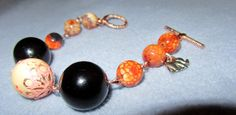 Handmade Agate and Vintage Bead Bracelet with by Scentedlingerie, $22.00