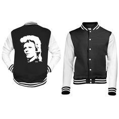 David Bowie Youth Varsity Jacket, Unisex Teenager Baseball Jacket, Kids Bomber Jacket, Child Letterman Jacket, Custom Teen Birthday Gift by MONOFACESoCHILDREN on Etsy