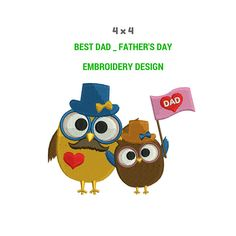 Best Dad Father Day Embroidery Design  Machine Embroidery