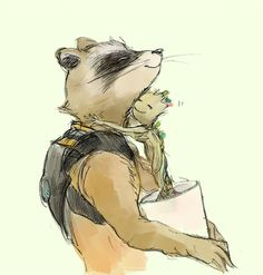 rocket and little groot