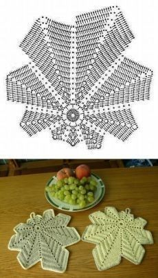 Most current Pic Crochet Doilies leaf Ideas Although most of the doilies that you see in stores today are manufactured from paper or machine lac Crochet Leaf Patterns, Crochet Coaster Pattern, Crochet Leaves, Crochet Fall, Crochet Circles, Crochet Diagram, Crochet Motif, Crochet Designs, Crochet Doilies