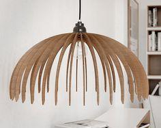 Lampe en bois déco lampe / luminaire suspendu par WoodenDelight