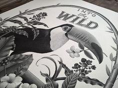 INTO THE WILD - Handlettering & illustration on Behance