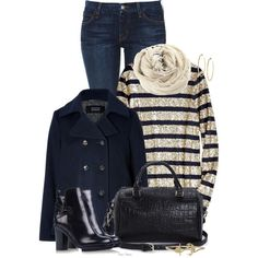 """Nautical in Autumn"" by madamedeveria on Polyvore"