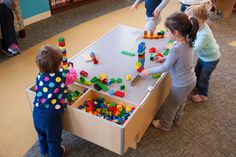 The 3 Branch Discovery Table is a great activity center for young kids and toddlers in libraries. It has an interchangeable top with a variety of surfaces that are bound to keep them entertained, and its round edges are an excellent safety measure for children.
