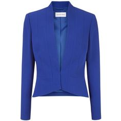 Fenn Wright Manson Ciara Jacket, Blue (305 CAD) ❤ liked on Polyvore featuring outerwear, jackets, collar jacket, lined jacket, fenn wright manson, short jacket and open front jacket