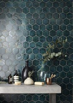 colored tiles - from Apartment Therapy - click for more