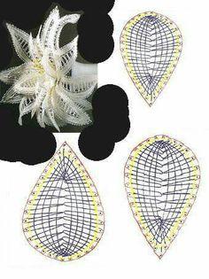 Witte bloem & technische tekening